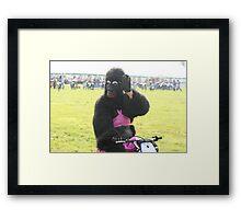 Gorilla Waving Framed Print