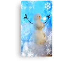 The Snow Maker at work Canvas Print
