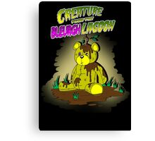 Creature from the Bleurgh Lagoon - in technicolor Canvas Print