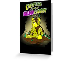 Creature from the Bleurgh Lagoon - in technicolor Greeting Card