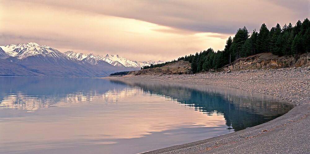 Glacial Shore - Lake Pukaki - NZ by James Pierce