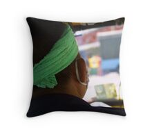 Tuck Tuck Driver Throw Pillow