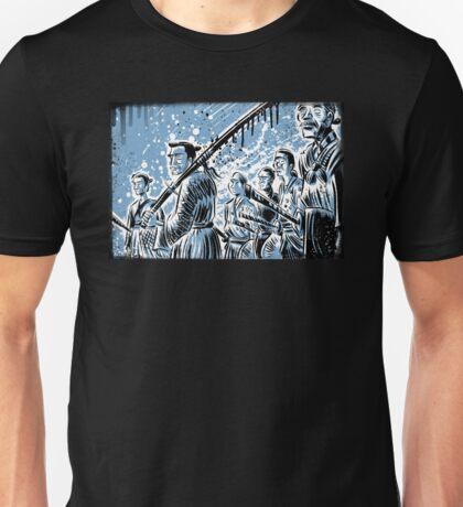 Seven Samurai Art Akira Kurosawa film movie illustration sword kung fu ninja japan japanese cartoon joe badon men 1954 action Unisex T-Shirt