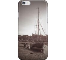 Sailing Ship moored at Blakeney iPhone Case/Skin