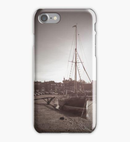 Sailing Ship moored at Blakeney iPhone Case/Skin