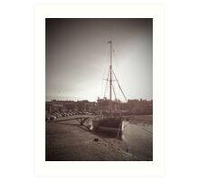 Sailing Ship moored at Blakeney Art Print