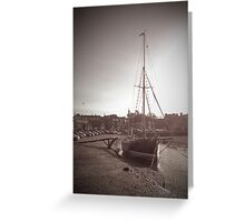 Sailing Ship moored at Blakeney Greeting Card