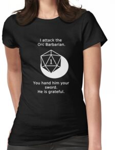 D20 Critical failure - Attack Womens Fitted T-Shirt