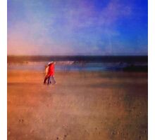 Beach Walkers Photographic Print