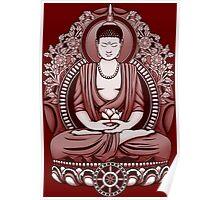 Gautama Buddha 2 Colour Halftone Poster