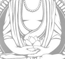 Gautama Buddha 2 Colour Halftone Sticker