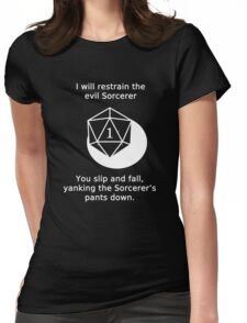 D20 Critical failure - Grapple Womens Fitted T-Shirt