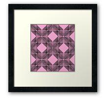 Pink & Black Box Pattern Framed Print