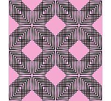 Pink & Black Box Pattern Photographic Print