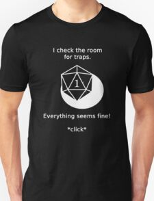 D20 Critical failure - Traps Unisex T-Shirt