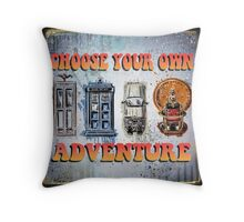 Time Machine Art Dr Who Bill and Ted Excellent Adventure Back to the future delorean tardis h g wells choose your own adventure Throw Pillow