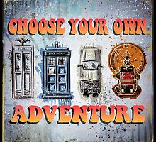 Time Machine Art Dr Who Bill and Ted Excellent Adventure Back to the future delorean tardis h g wells choose your own adventure by Joe Badon