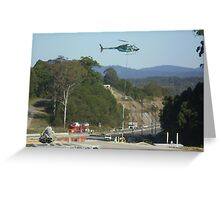 Helicopter sling work Greeting Card