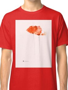 Poppies watercolor art print painting Classic T-Shirt
