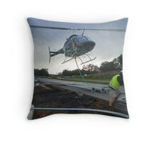 Helicopter work Throw Pillow