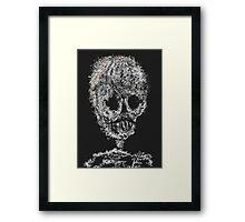 Rice skull Framed Print