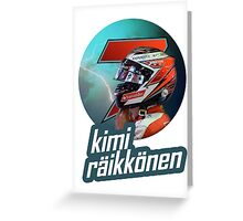 Kimi Raikkonen 7 - 2015 Greeting Card