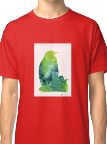 Penguin silhouette painting watercolor art print Classic T-Shirt