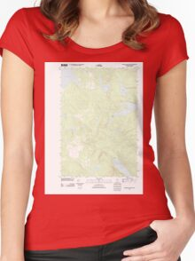 Maine USGS Historical Map Rainbow Lake West 20110831 TM Women's Fitted Scoop T-Shirt