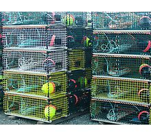 Lobster Traps Photographic Print