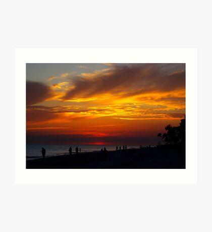 Sunset on Sanibel Island Art Print