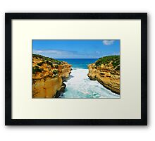 the Edge of Thunder Cave Framed Print
