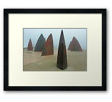 Shark fins Framed Print