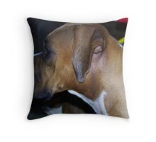 I am here!! Throw Pillow