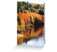 Autumn on the Pohopoco Creek  Greeting Card