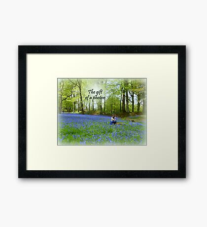 The Gift of a Photon Framed Print