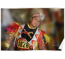 Young Boy at Pow Wow Poster
