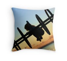A child shadow Throw Pillow