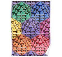 The Infinite 64 Tetrahedron Grid Poster