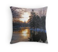 Sunrise On Pike River Throw Pillow