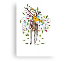 Coloured stag Canvas Print