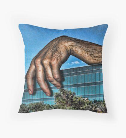 Embracing a Boring Building Throw Pillow