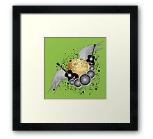 Abstract party design Framed Print