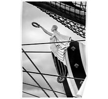 Figurehead on the Prow of a Tall Ship, St Petersburg Harbor, Russia Poster