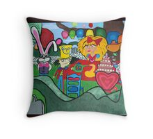 Modern Alice! Throw Pillow