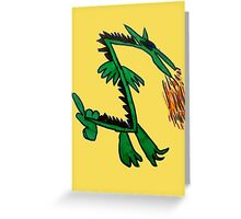 Stinker the Japanese Dragon Greeting Card