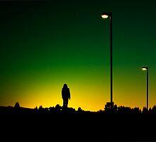 the sun set green. (card) by Darren Foley