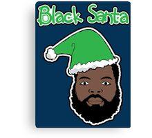 Black Santa Canvas Print