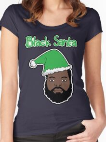 Black Santa Women's Fitted Scoop T-Shirt