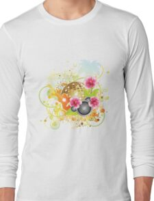 Tropical party poster 2 Long Sleeve T-Shirt