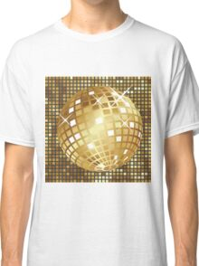 Golden disco ball Classic T-Shirt